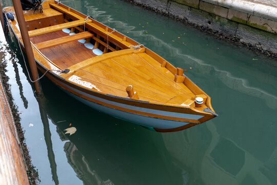 wooden boat moored