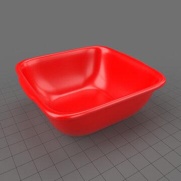 Square plastic basin