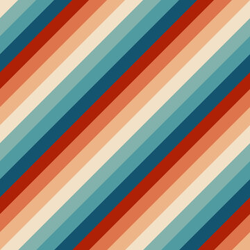 Seamless rainbow stripes pattern. Retrowave 80s art retro rainbow vector illustration background