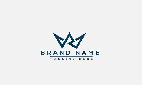 WR Logo Design Template Vector Graphic Branding Element.