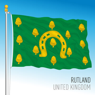 County of Rutland flag, United Kingdom, vector illustration