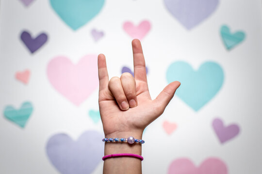I love you ASL sign language