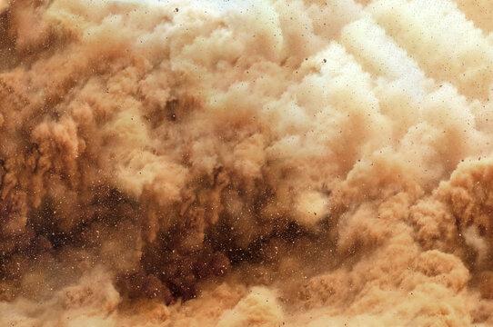Close up of a detonator blast