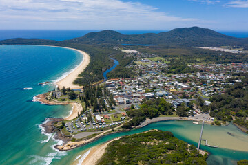 The town of South West Rocks on the north coast of New South Wales, Australia.