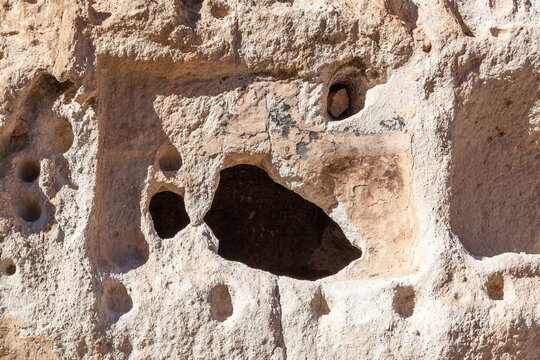 Carved Cave Dwellings at Bandelier National Monument