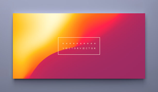 Desert dunes sunset landscape. Abstract background with dynamic effect. Creative design with vibrant gradients. 3D vector Illustration.