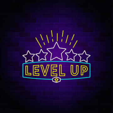 Level up neon sign design