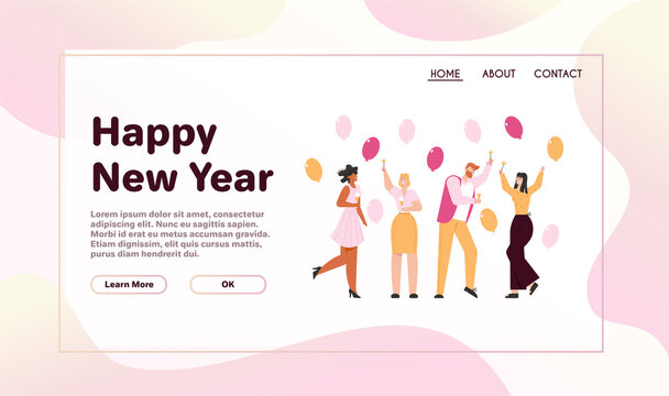 Vector banner of Happy New Year concept