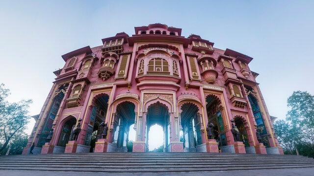 Patrika gate. The ninth gate of Jaipur locate at Jawahar Circle, Jaipur, Rajasthan, India.