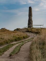 Obelisk na szczycie Wielkiej Rawki - Bieszczady