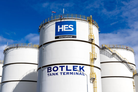Botlek Tank Terminal in the Port of Rottedam. The Netherlands - September 8, 2019