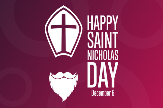 Saint Nicholas Day. December 6. Holiday concept. Template for background, banner, card, poster with text inscription. Vector EPS10 illustration.