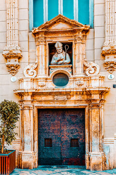 Cityscape historical places  of Valencia - city in Spain.