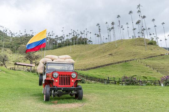 Símbolos patrios Colombia, tradición, cultura. Valle de Cocora, Salento, Quindío