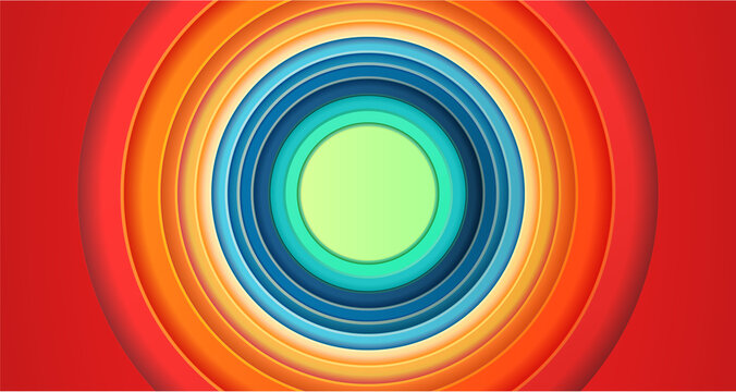 Looney Tunes Colorful Circles background cartoon