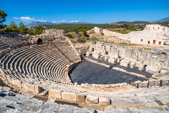 Antique Theatre in the ancient Lycian city of Patara, Turkey.