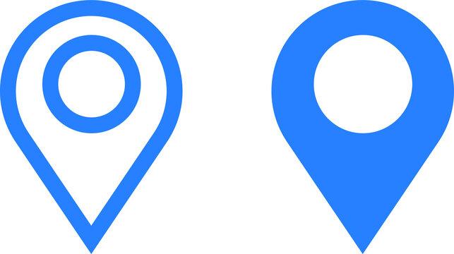 location icon. map pin icon vector