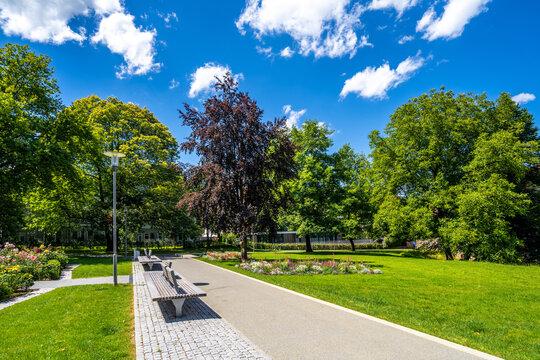 Stadtgarten, Schwaebisch Gmuend, Baden-Württemberg, Deutschland