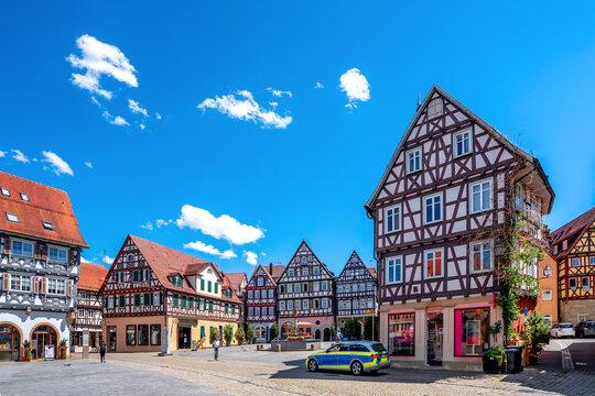 Oberer Marktplatz, Schorndorf, Baden-Württemberg, Deutschland