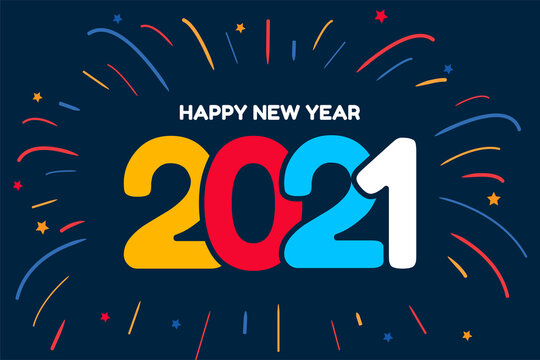 Happy new year 2021 for holidays banners. Flyers, greetings, invitations, Vector illustration.