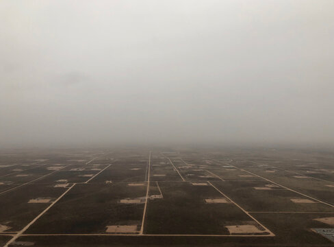 Aerial view of Permian Basin Oil Patch