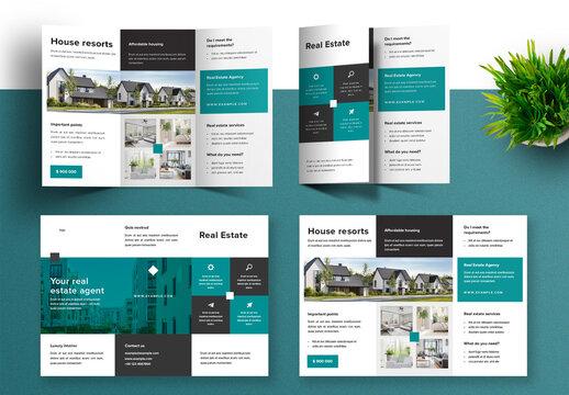 Trifold Brochure Design for Real Estate Company