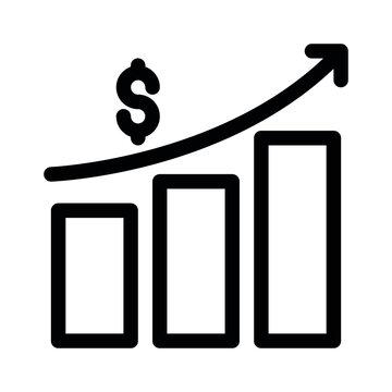 Vector growth graph icon