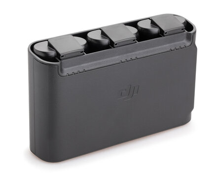 dji mavic mini drone battery charger path isolated on white