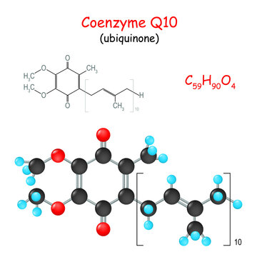 Coenzyme Q10. Chemical structural formula