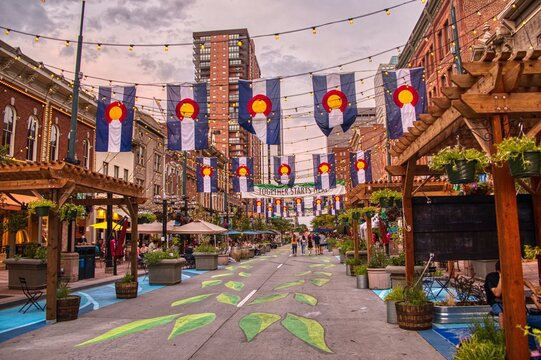 Larimer Square after the Covid Shutdown was lifted