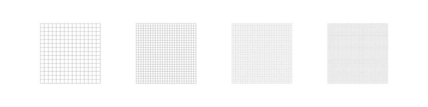 Grid line square pattern. Paper line backgroung. Notebook texture, math concept in vector flat