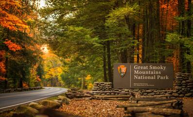 Fototapeta Entrance to the Great Smoky National Park obraz