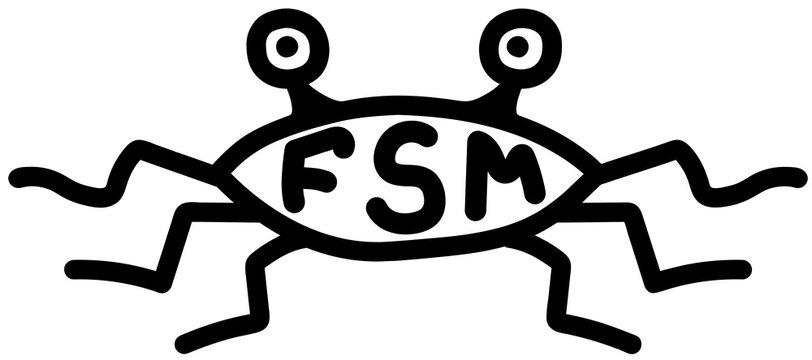 Pastafarianism icon. Pastafarianism symbol - simple vector illustration