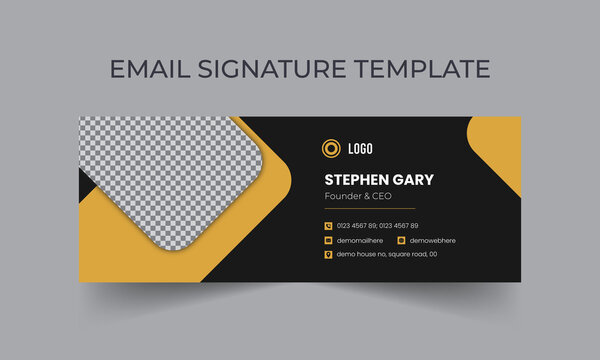 Corporate, Modern and Professional Email Signature. Creative Multipurpose business email signatures