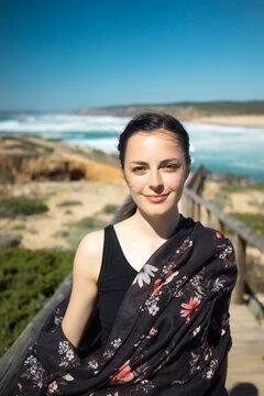 Woman on the beach  portrait