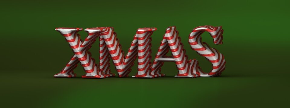 merry christmas 3d digtal clean