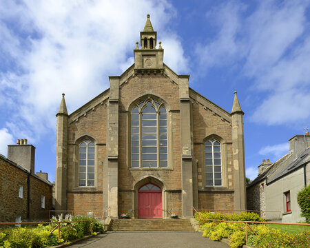 Parish church of Stromness. Stromness locally is the second-most populated town in Orkney. It is in the southwestern part of Mainland Orkney.