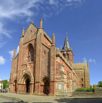 St Magnus Cathedral, Kirkwall, Kirkwall is the largest town and capital of the Orkney Islands of Scotland, UK