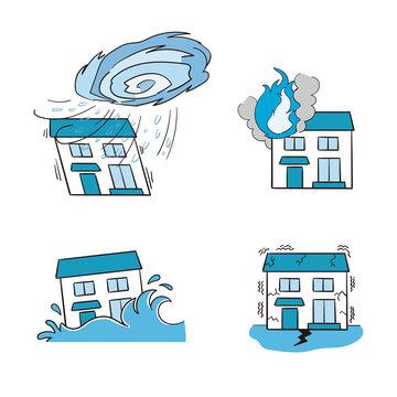 災害に被害を受ける住居