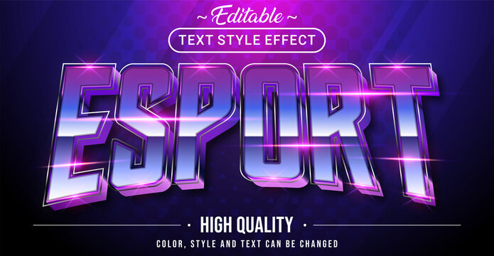 Editable text style effect - Stylish gaming esport text style.