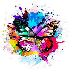 background with butterfly and butterflies