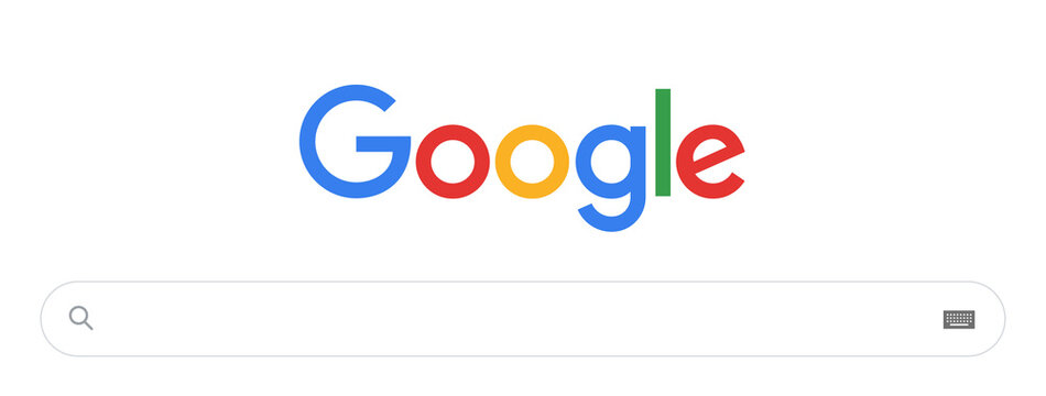 Google search bar. Classic Search window.Google Vector. Main search system page Google in Safari browser. Vector Element Google Search Bar, Search Engine Template. Vector illustration