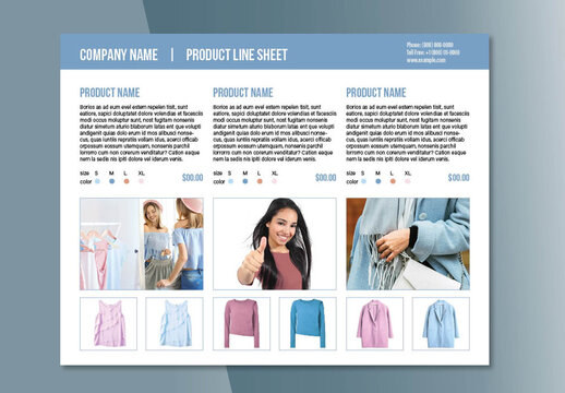Line Product Sheet Layout