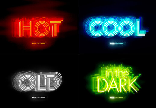 Glowing Hot and Cool Text Effect Bundle