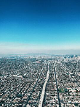 Aerial shot of Los Angeles Skyline