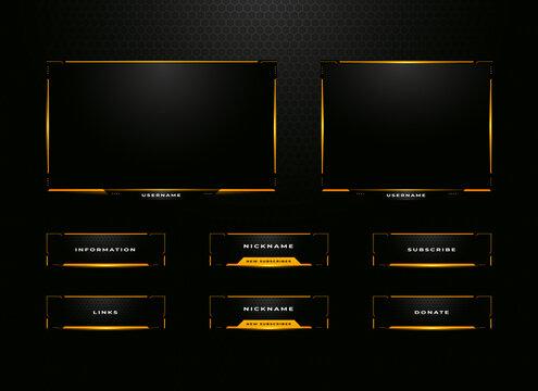 twitch streamer panel overlay set