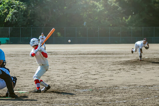 高校野球試合風景