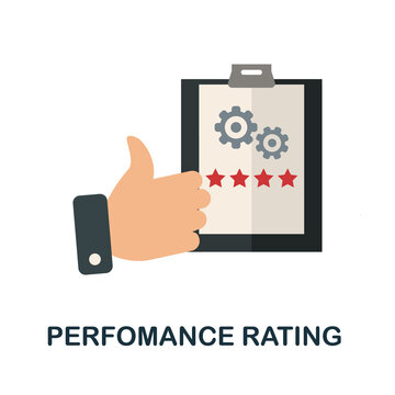 Perfomance Rating icon. Simple element from human resources collection. Creative Perfomance Rating icon for web design, templates, infographics and more