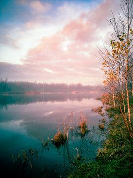 Lake by Autumn Dawn