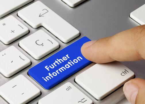 Further information - Inscription on Blue Keyboard Key.